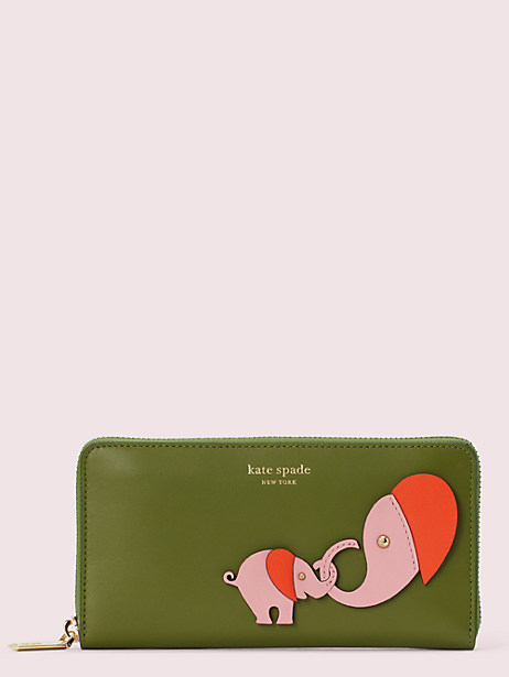 appliqué tiny zip-around continental wallet by kate spade new york