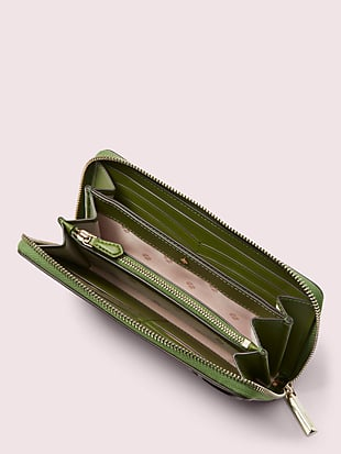 appliqué tiny zip-around continental wallet by kate spade new york hover view