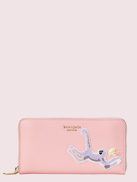 safari zip-around continental wallet by kate spade new york