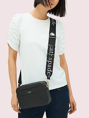 make it mine thick logo webbed crossbody strap by kate spade new york hover view