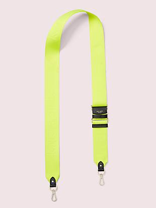 make it mine thick neon logo webbed crossbody strap by kate spade new york non-hover view
