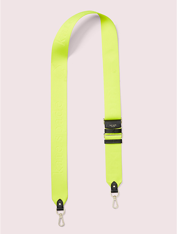 make it mine thick neon logo webbed crossbody strap, , rr_large