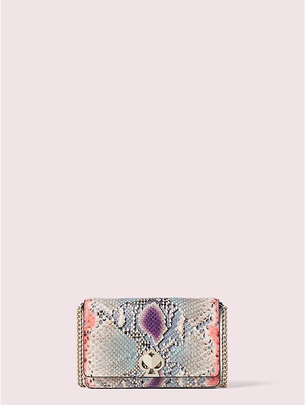 romy python-embossed chain wallet, , rr_large