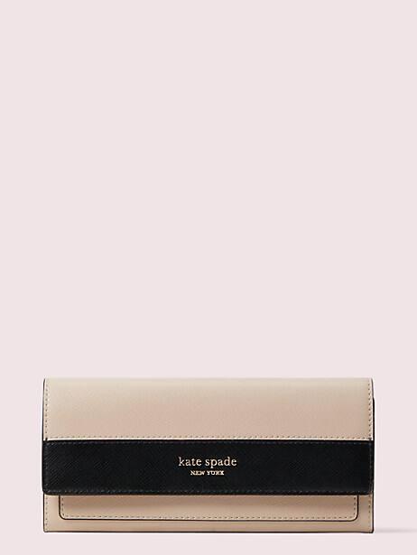 spencer slim flap wallet, COLOR, large by kate spade new york