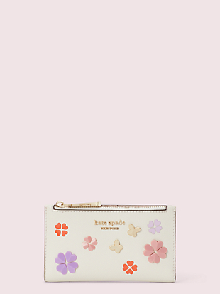 spencer spade clover butterfly small slim bifold wallet by kate spade new york non-hover view
