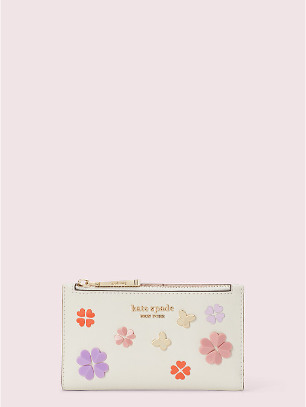 spencer spade clover butterfly small slim bifold wallet, , rr_large