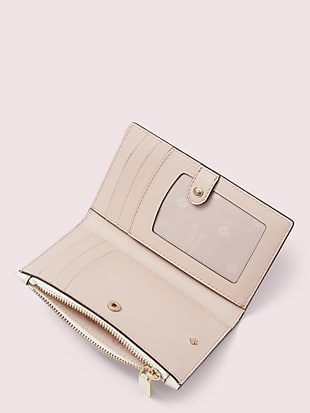 spencer spade clover butterfly small slim bifold wallet by kate spade new york hover view