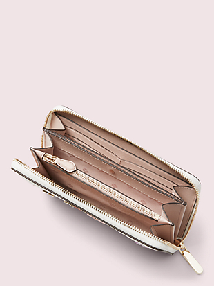 spencer spade clover butterfly zip-around continental wallet by kate spade new york hover view