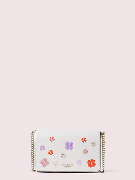 spencer spade clover butterfly chain wallet by kate spade new york