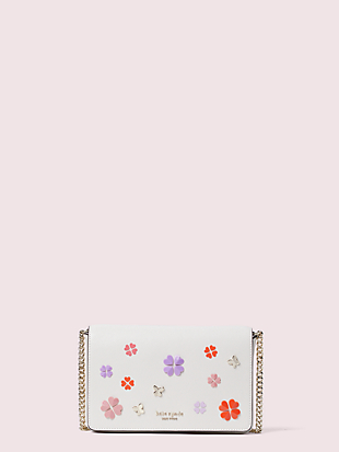 spencer spade clover butterfly chain wallet by kate spade new york non-hover view