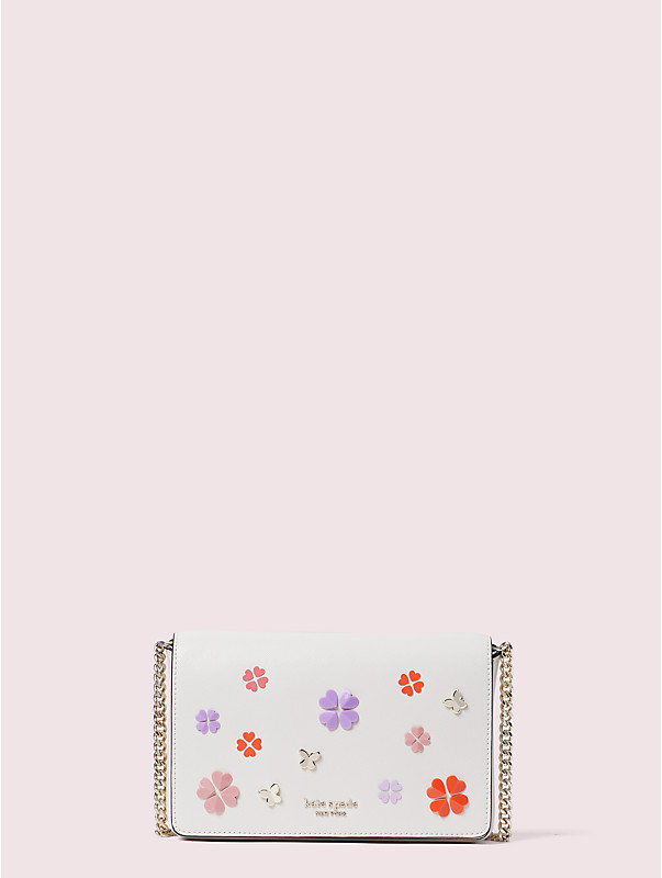 spencer spade clover butterfly chain wallet, , rr_large