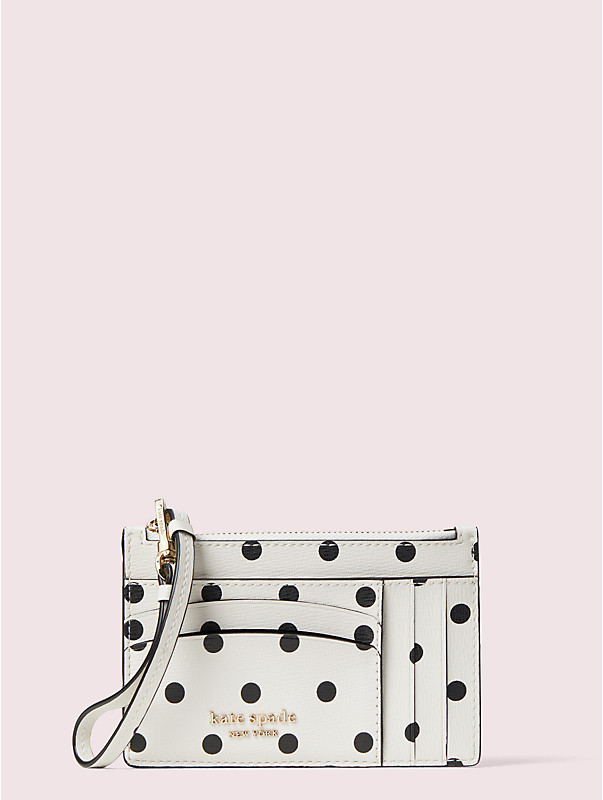 spencer cabana dot cardholder wristlet, , rr_large