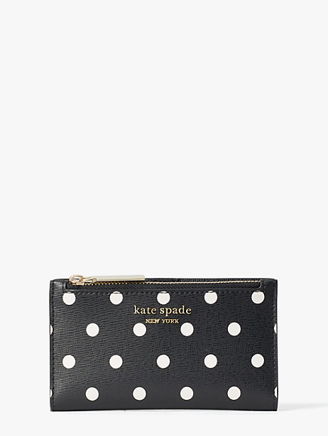 spencer cabana dot small slim bifold wallet by kate spade new york