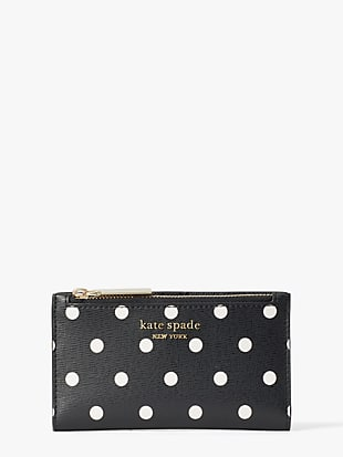 spencer cabana dot small slim bifold wallet by kate spade new york non-hover view