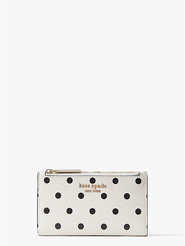 spencer cabana dot small slim bifold wallet, , rr_large