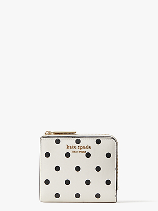 spencer cabana dot small bifold wallet by kate spade new york non-hover view