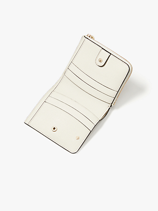 spencer cabana dot small bifold wallet by kate spade new york hover view