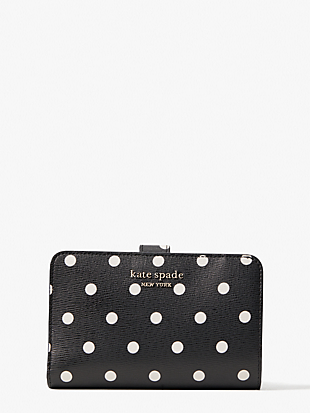 spencer cabana dot compact wallet by kate spade new york non-hover view