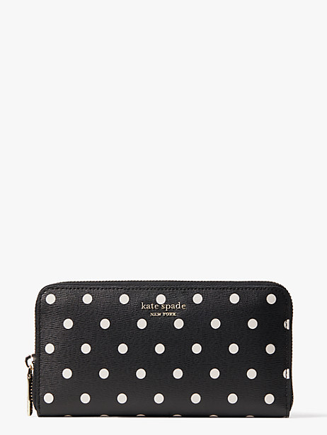 spencer cabana dot zip-around continental wallet by kate spade new york