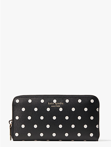 spencer cabana dot zip-around continental wallet, , rr_productgrid