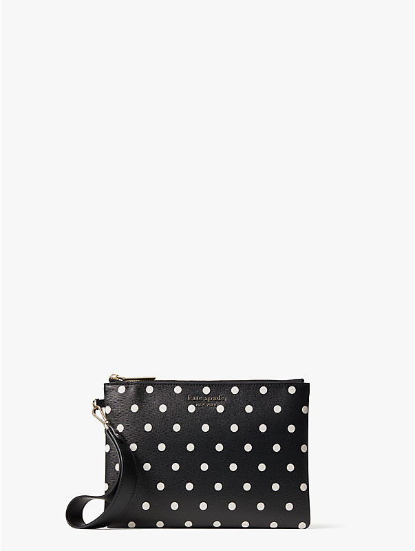 spencer cabana dot small pouch wristlet, , rr_large
