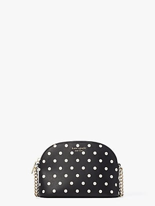 케이트 스페이드 스펜서 크로스바디백 스몰 Kate Spade spencer cabana dot small dome crossbody,black multi