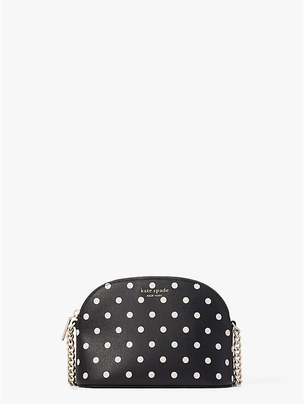 spencer cabana dot small dome crossbody, , rr_large