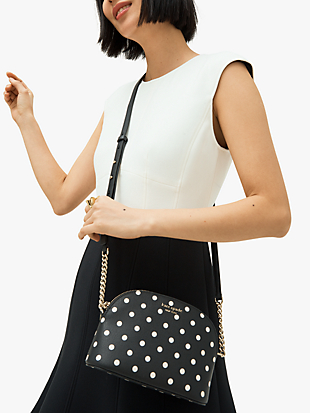 spencer cabana dot small dome crossbody by kate spade new york hover view