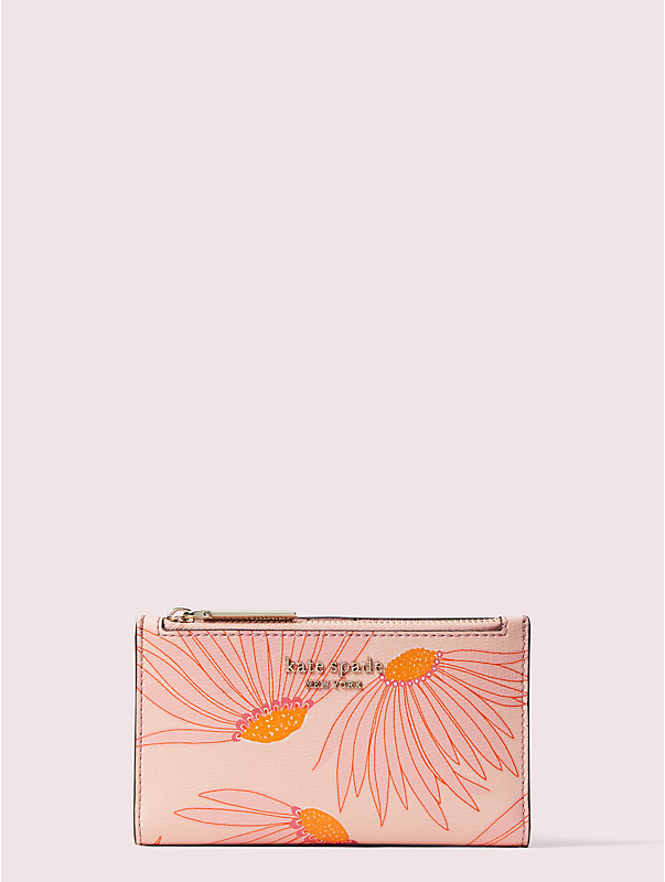 spencer falling flower small slim bifold wallet, , rr_large