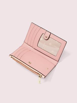 spencer falling flower small slim bifold wallet by kate spade new york hover view