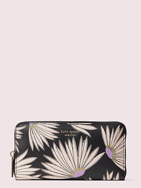 Spencer falling flower zip-around continental wallet | Kate Spade New York