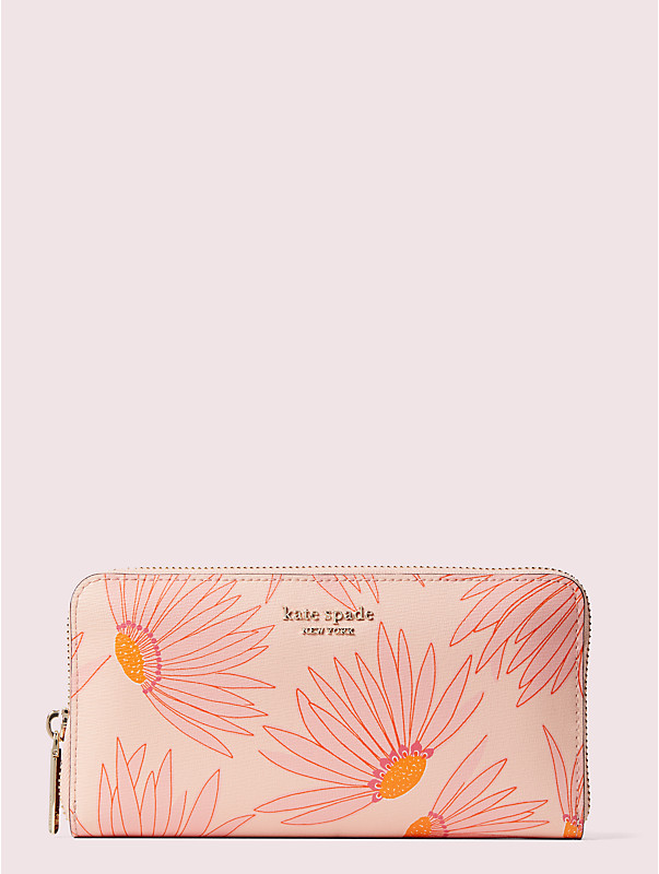 spencer falling flower zip-around continental wallet, , rr_large