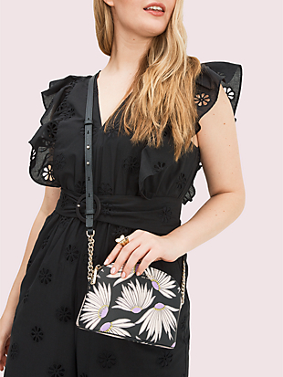 spencer falling flower small dome crossbody by kate spade new york hover view