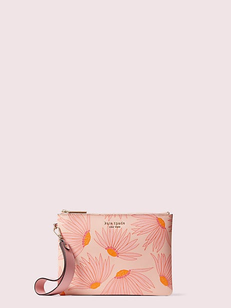 spencer falling flower small pouch wristlet by kate spade new york