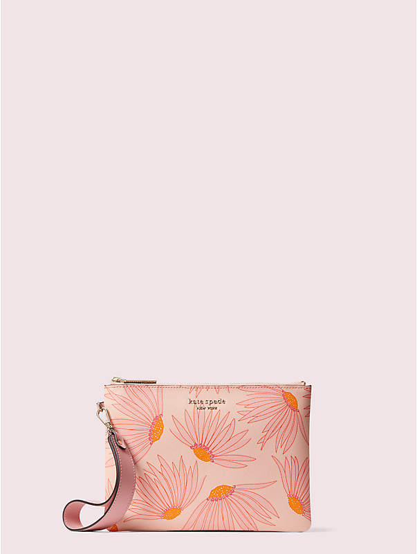 spencer falling flower small pouch wristlet, , rr_large