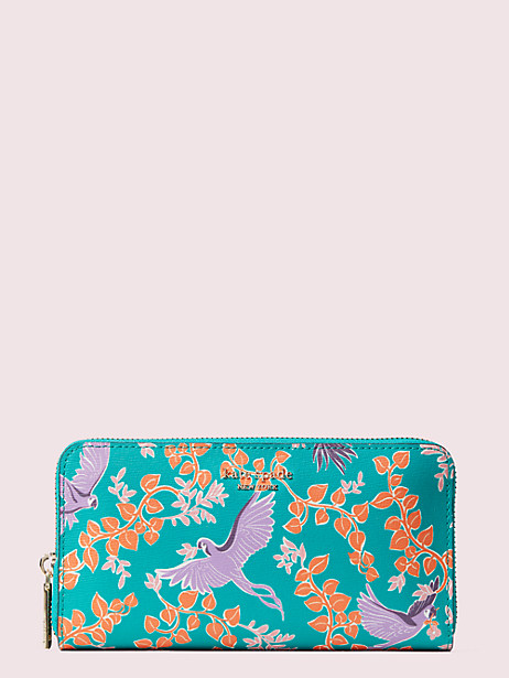 spencer bird party zip-around continental wallet by kate spade new york