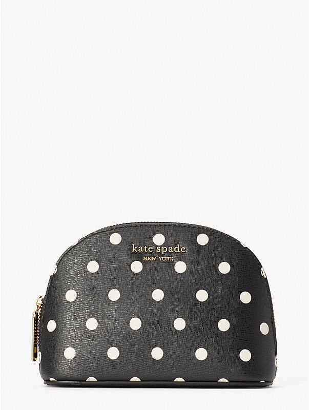 spencer cabana dot small dome cosmetic case, , rr_large