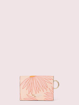 spencer falling flower mini key-ring wallet by kate spade new york non-hover view
