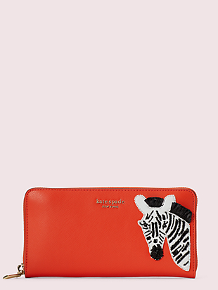 safari zip-around continental wallet by kate spade new york non-hover view