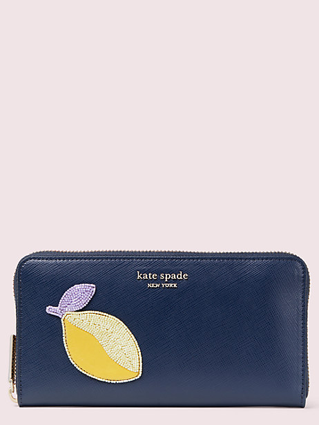 fruitful zip around continental wallet by kate spade new york