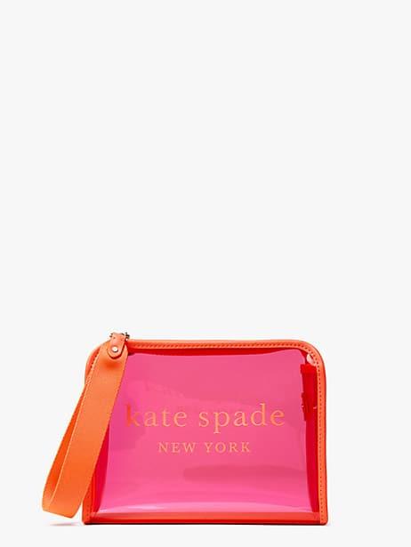 market see-through medium wristlet by kate spade new york