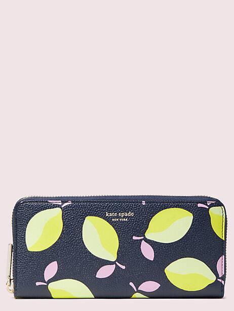 margaux lemons slim continental wallet by kate spade new york