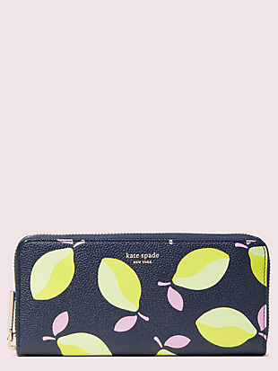 margaux lemons slim continental wallet by kate spade new york non-hover view