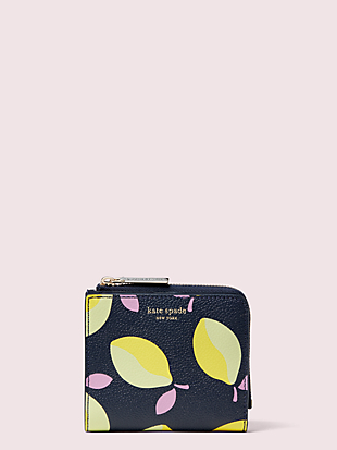 margaux lemons small bifold wallet by kate spade new york non-hover view
