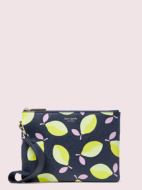 margaux lemons small pouch wristlet by kate spade new york