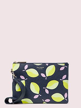 margaux lemons small pouch wristlet by kate spade new york non-hover view