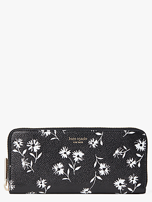 margaux dandelion floral slim continental wallet by kate spade new york non-hover view