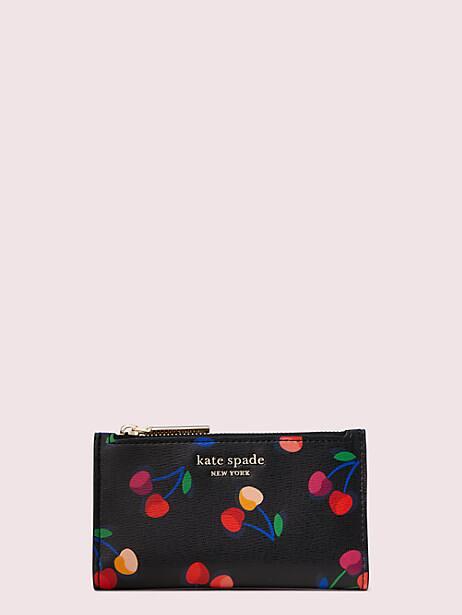 spencer cherries small slim bifold wallet by kate spade new york