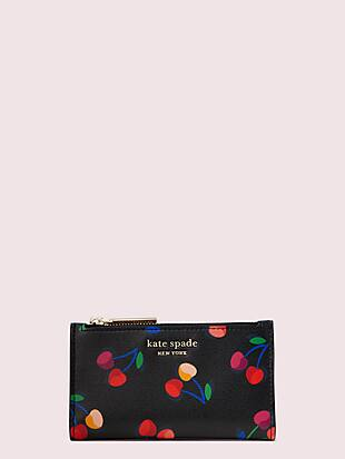 spencer cherries small slim bifold wallet by kate spade new york non-hover view