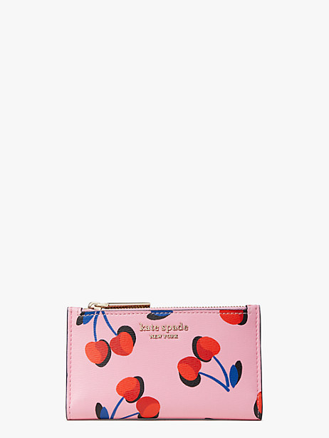spencer cherries small slim bifold wallet by kate spade new york